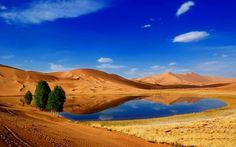 Lop Desert China Photo - Human and Natural