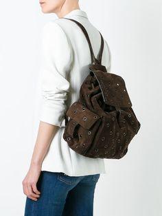 Prada Vintage eyelet backpack 1990
