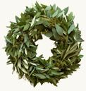 Handmade olive branch wreaths