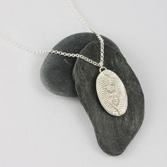 Silver swirls pendant  sterling silver texture by FirepanJewellery