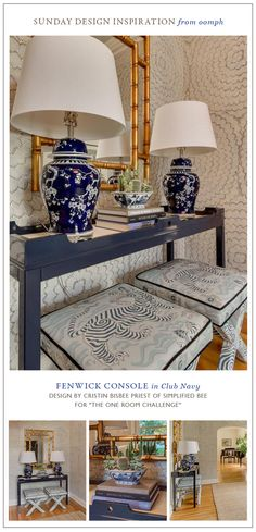 One room challenge with the oomph Fenwick Console.