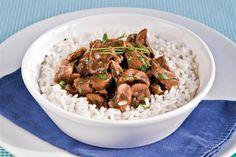 Riñones a la francesa - Cocina y Recetas - lanacion.com Food Coloring, Grains, Healthy Recipes, Healthy Food, Pasta, Chicken, Tapas, Bar, Colors