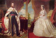 Maximiliano y Carlota de Habsburgo, Emperors of Mexico Maximilian I, Mexican Revolution, Colonial Art, Past Tense, Fiction Books, King Queen, Austria, Belgium, Aztec