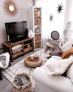 Boho Living Room, Small Living Rooms, Interior Design Living Room, Living Room Designs, Living Room Decor, Design Bedroom, Modern Living, Cozy Living Room Warm, Small Living Room Design