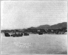 Labores de rescate y búsqueda de sobrevivientes y cadáveres después de la inundación de 1909 Barrio San Luisito, Monterrey NL