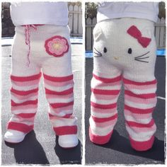 Hello Kitty knitted toddlers pants.