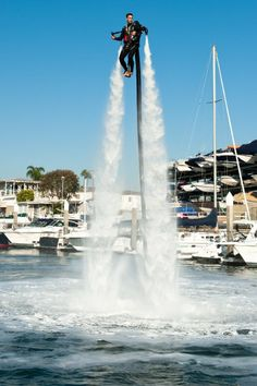 Fly over Newport Harbor with the help of Jetpack America!