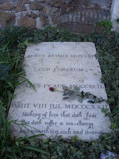 Shelley's grave, Protestant Cemetery, Rome