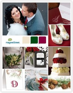 Christmas Wedding   The cake but with poinsettas