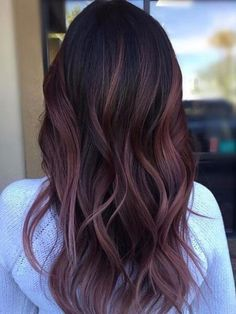 Balayage de la Prune de Couleur de Cheveux