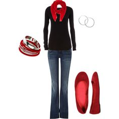 Every closet should have a long sleeve black shirt, a good pair of jeans and scarfs in every color. :-) BM
