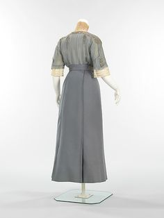 Suit, Walking Summer 1910 House of Paquin.  View without jacket, back.