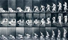 Eadweard Muybridge: Woman. Sitting down on the ground
