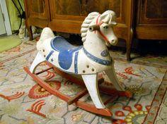 1950s Buddo Rocking Horse  cheval à bascule en bois