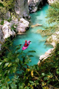 Soča river, Slovenia  http://www.slovenian-getaway.si/