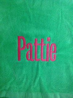 Embroidery on towel School Clubs, Towel, Company Logo, Branding, Embroidery, Brand Management, Needlepoint, Needlework, Brand Identity