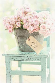 Vintage, shabby chic flower arrangement, shabby chic furniture, cottage decor