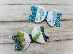 Mermaid bows holiday bows party bows girl bows baby