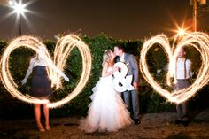 Sparkler send off - prettymyparty.com #wedding #yellowwedding #modernwedding #chevron