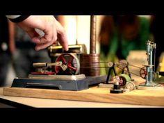 Stoommachine miniatuur - YouTube