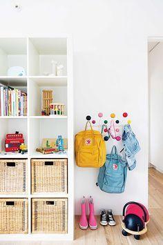 Adorable little eames coat hanger for little kids storage