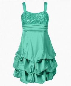 Sequin Hearts Girls Dress Girls Tiered Ruffle Dress - Kids ...