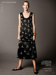 Vogue China December 2014 | Maartje Verhoef by Daniel Jackson