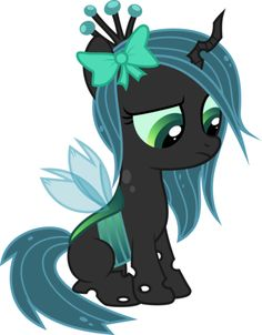 Little Chrissy - Chrysalis is my FAVORITE Villain, but only because Discord has some not-so-evil moments so I say he's not pure villain