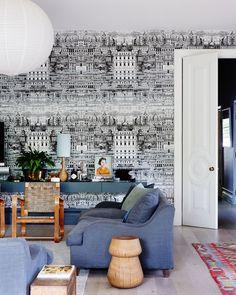 Wallpaper! Cole & Son Riflesso by Fornasetti wallpaper