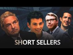 Short Sellers - The Anti-heroes of Financial Market - YouTube David Tepper, Financial Markets, Documentaries, Marketing, Learning, Youtube, Studying, Teaching, Youtubers