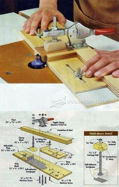 Small Parts Routing Jig - Router Tips, Jigs and Fixtures | WoodArchivist.com
