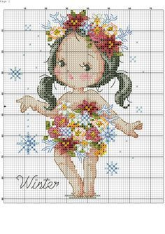 Winter. Cross stitch.