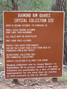 Payson Diamonds Diamond Rim Quartz Crystal Collection Site opens october 1