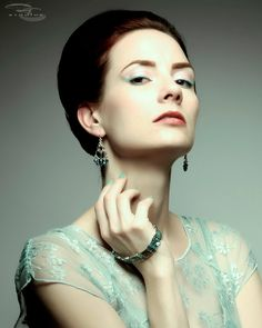 Teal Swarovski Crystal and Abalone Bracelet by SpeakeasyStarlet, $16.00
