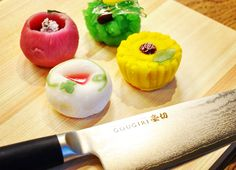 GOUGIRI with Japanese sweets! What taste you can imagine?  #chefsknife #chefknife #chefstuff #kitchenstuff #kitchentools #kitchenknife #kitchenware #kitchenset #kitchenstyle #cheflife #kitchenlife #chefs #chefstalk #cheftable #chefstyle #chefskills #chefsgallery #chefschoice #chefkitchen #cutlery #knives #culinary #homecooking #knifesale  #culinaryarts #foodiesofinstagram #chefsoninstagram #chefathome #japanesefood #washoku