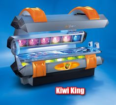 Party like a rock star with the Soltron XXL-105 Kiwi King! This all high-pressure sunbed provides a regal experience with its luxurious size, ultra powerful tanning performance, comfortable airflow, open design and stereo sound. Make the Kiwi King part of your castle and treat your customers like royalty!