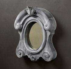 European Zinc Dormer Mirror Crown