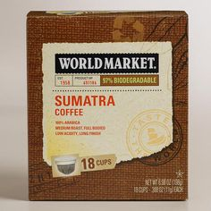 One of my favorite discoveries at WorldMarket.com: World Market� Sumatra OneCup� Coffee