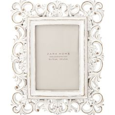 Zara Home White Openwork Frame (€13) ❤ liked on Polyvore featuring home, home decor, frames, decor, white, zara home, white picture frames, white home accessories, white home decor and white frames