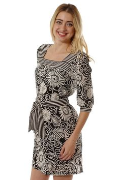 Floral belted tunic/dress