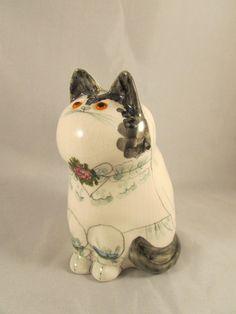 Nice Vtg Joan de Bethel Ceramic Art Monastery Rye Pottery Cat Figure Sculpture | eBay Rye, Ceramic Art, Pottery, Sculpture, Ceramics, Cats, Ebay, Ceramica, Ceramica