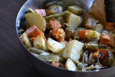 Garlicky Roasted Potato Salad...  website ... Warm Vanilla Sugar