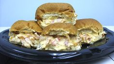 Crockpot ham and cheese sandwiches. These are off the chain!