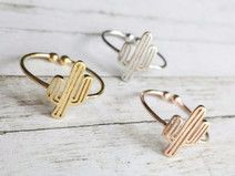 summer cactus ring gold rose gold silver