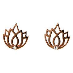 Melissa Odabash Lotus Stone Set Stud Earrings Online at johnlewis.com