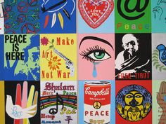'Peace Piece,' a group project by Finney High School students in the 7th 'Detroit Public Schools Student Exhibition' at the Detroit Institute of Arts (Michael H. Hodges/The Detroit News)
