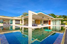 Breathtaking Natural Spectacle Offered by way of Modern Holiday Villa in Koh Samui - List Deluxe Exterior Design, Interior And Exterior, Most Romantic Places, Castle House, Asian Decor, Koh Samui, Cool Pools, Outdoor Areas, Architect Design