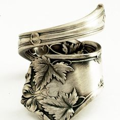 Victorian Maple Leaf spoon ring