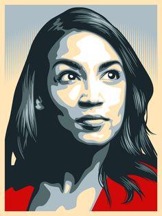'Alexandria Ocasio Cortez' Poster by verigud Wall Collage, Wall Art, Wall Decor, Room Decor, Protest Art, Visual Diary, Poster Wall, Room Posters, Art