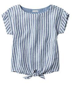 Signature Short-Sleeve Linen Top